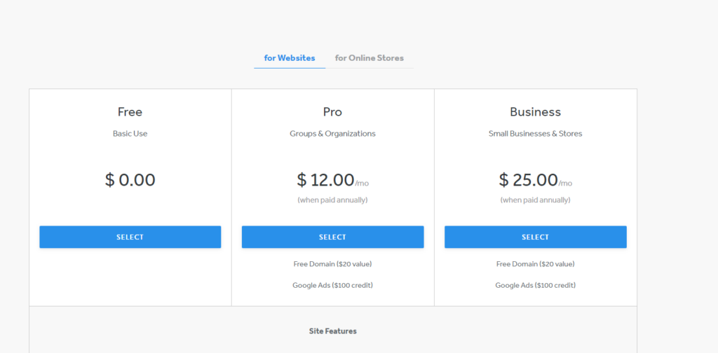 Weebly Pricing Plans  Which premium plan is right for you? - Website